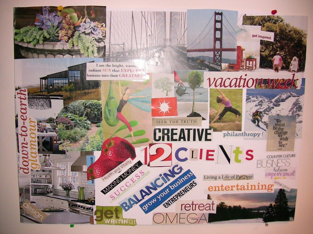 Crystal balls or vision boards career insider for Home design vision board